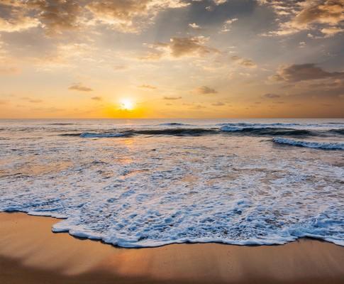 Ocean and beach beautiful seascape